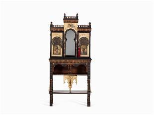Carlo Bugatti, Cabinet in Oriental Style, Italy, c.