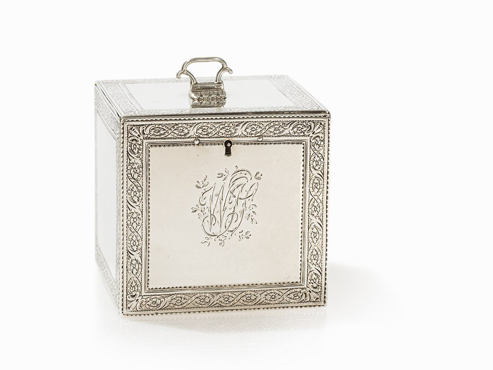 George III Silver Tea Caddy by Lewis Pantin, London,