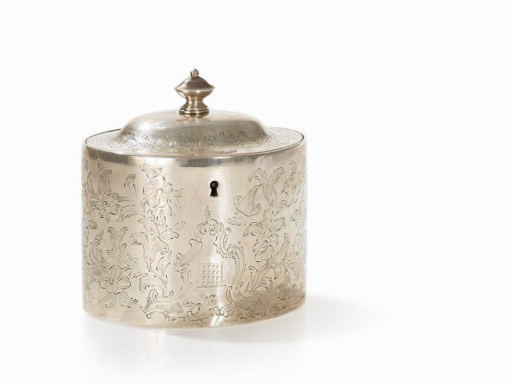 George III Silver Tea Caddy, London, 1797