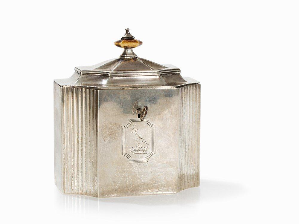 George III Silver Tea Caddy by Michael Plummer, London,