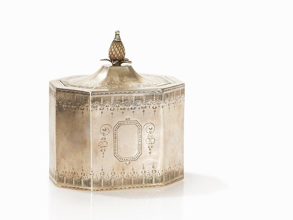 George III Silver Tea Caddy, London, 1788
