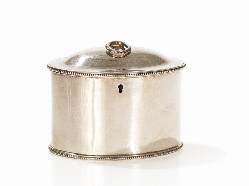 George III Silver Tea Caddy by Fogelberg & Gilbert,