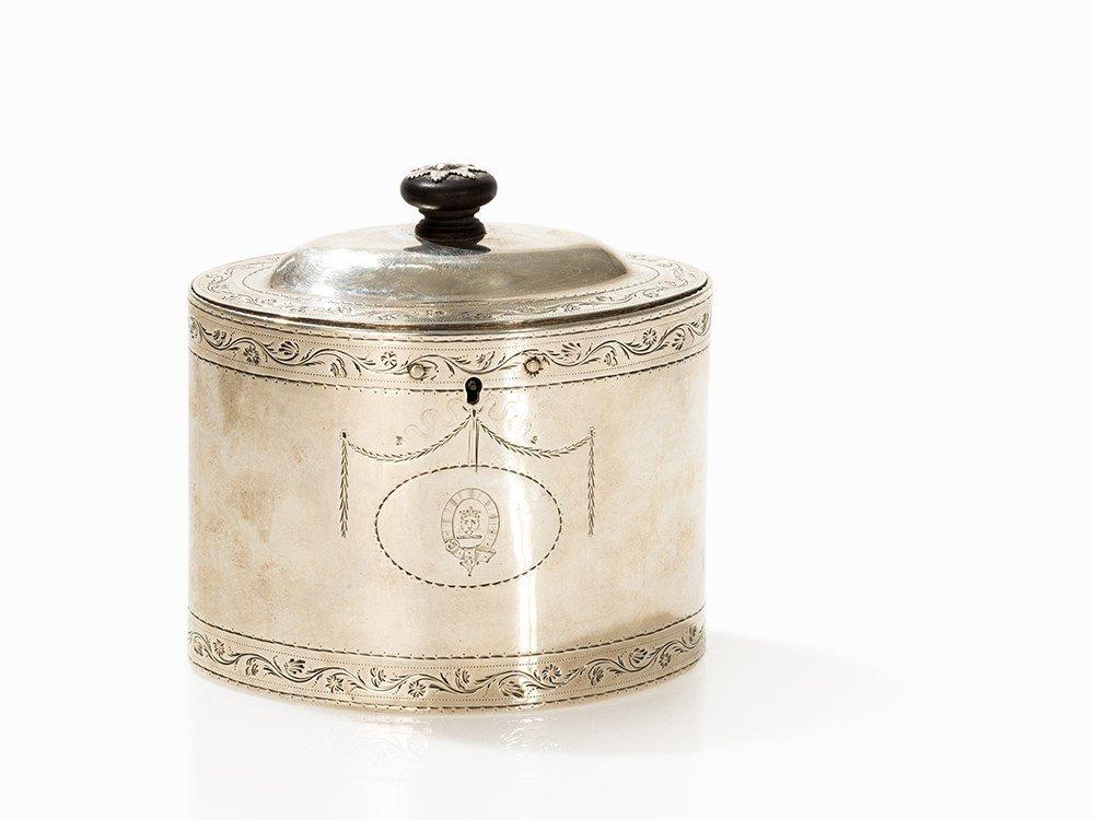 George III Silver Tea Caddy by Aldridge & Green,
