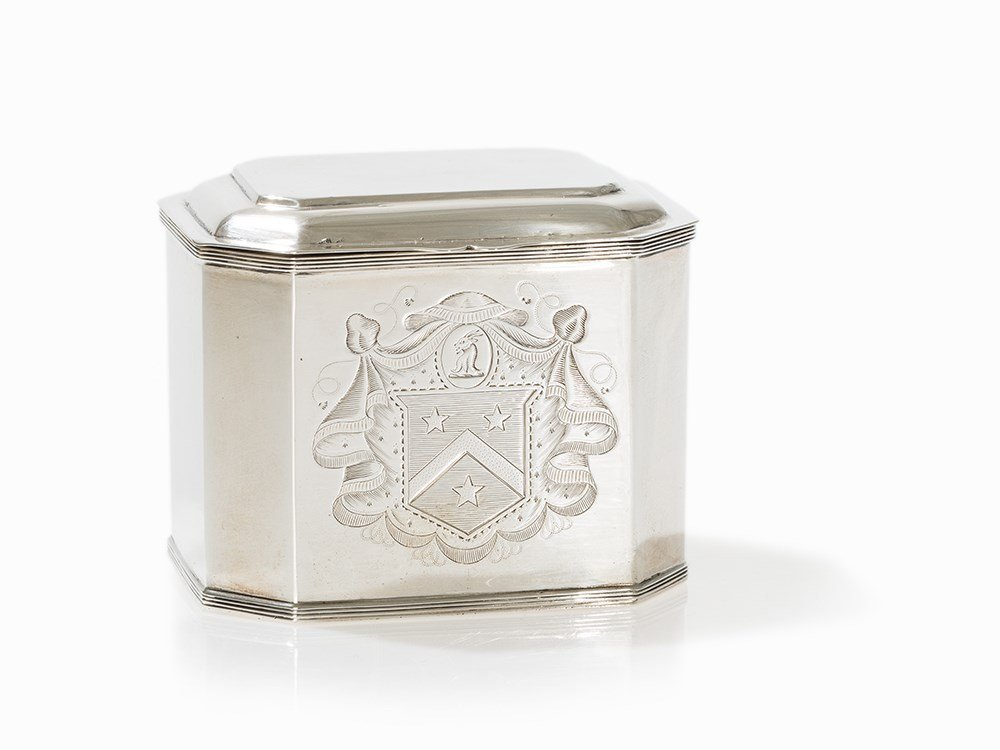 George III Silver Tea Caddy by Richard Crossley,