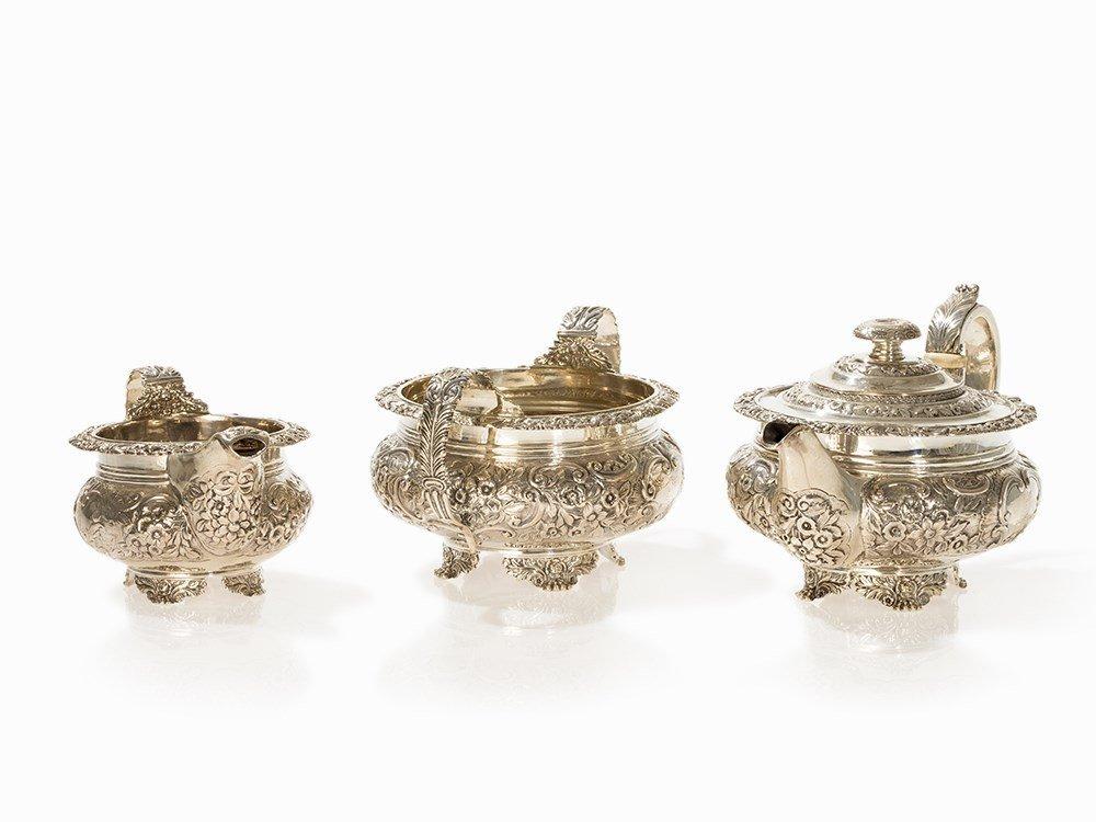 George IV 3-Piece Silver Tea Set by Bateman, London