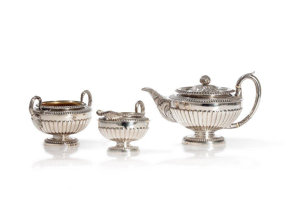 Sterling Silver Tea Set, Robert Gray & Son, Glasgow,