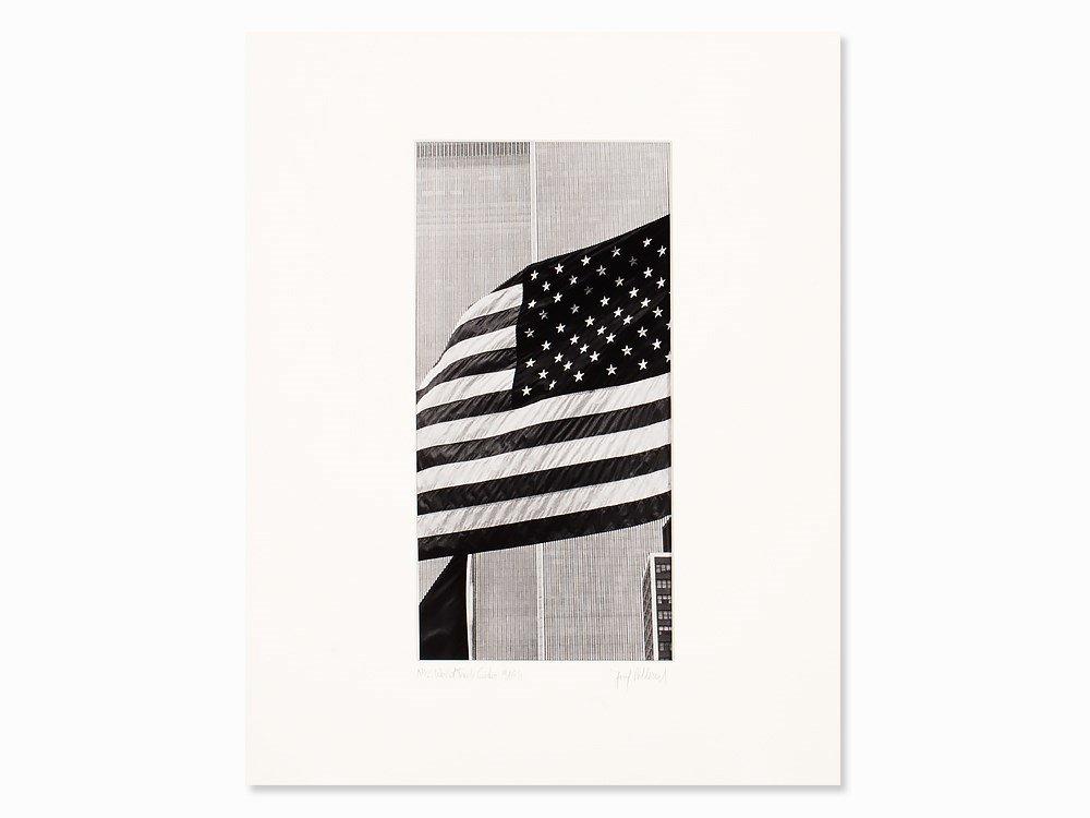 Josef Polleross (b. 1963), US-Flag, Signed, NYC, 1980s