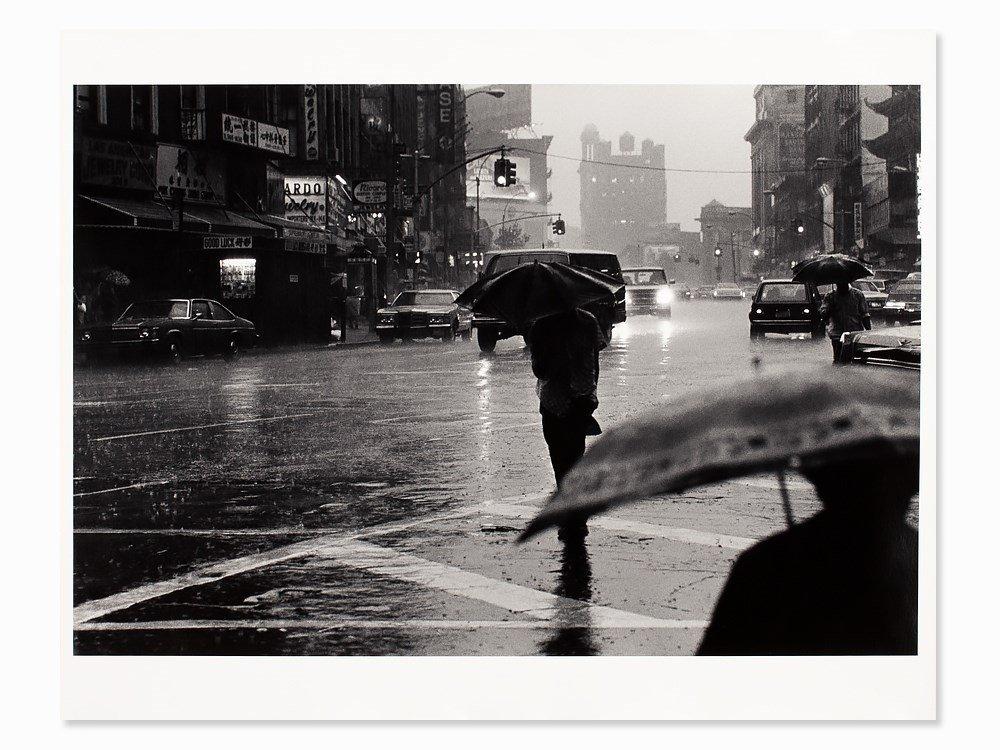 Josef Polleross (b. 1963), 'Canal Street', Signed, NYC,