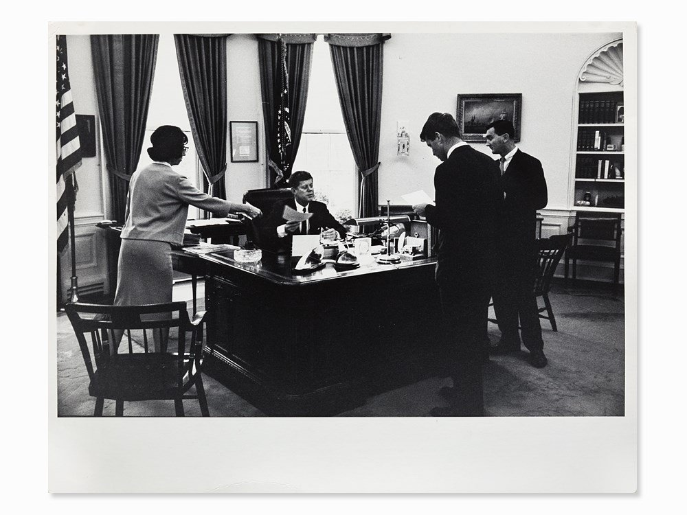 Arthur Rickerby, JFK With Staff In The Oval Office,