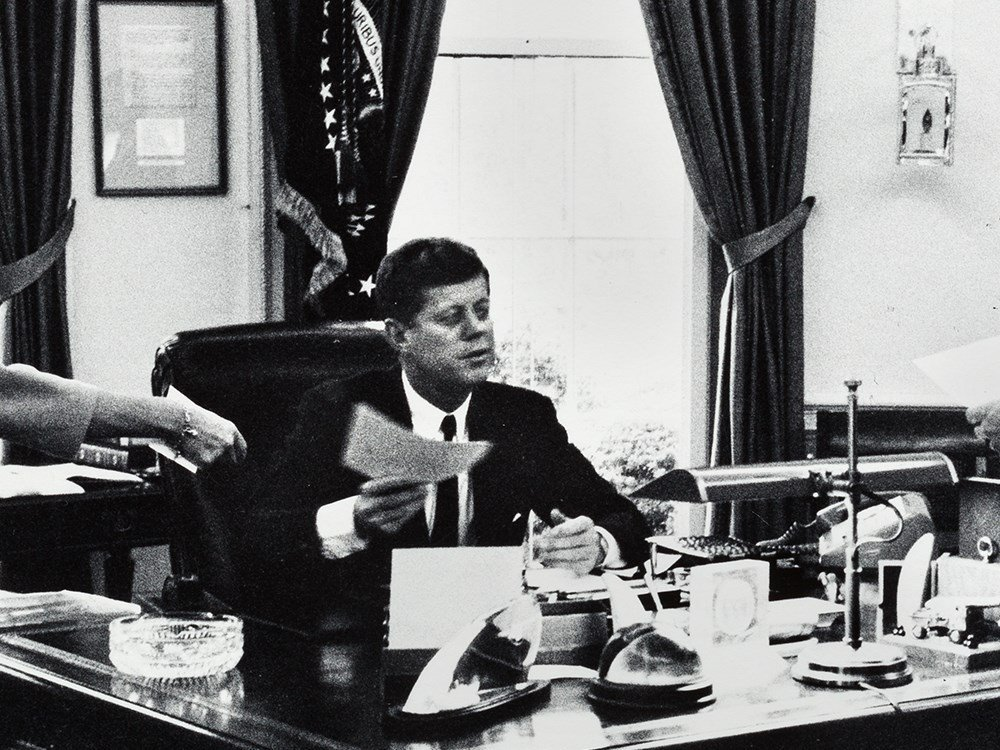 Arthur Rickerby, JFK With Staff In The Oval Office, - 3