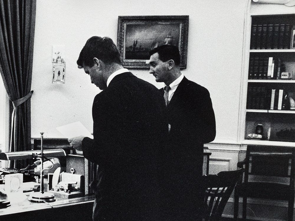 Arthur Rickerby, JFK With Staff In The Oval Office, - 4