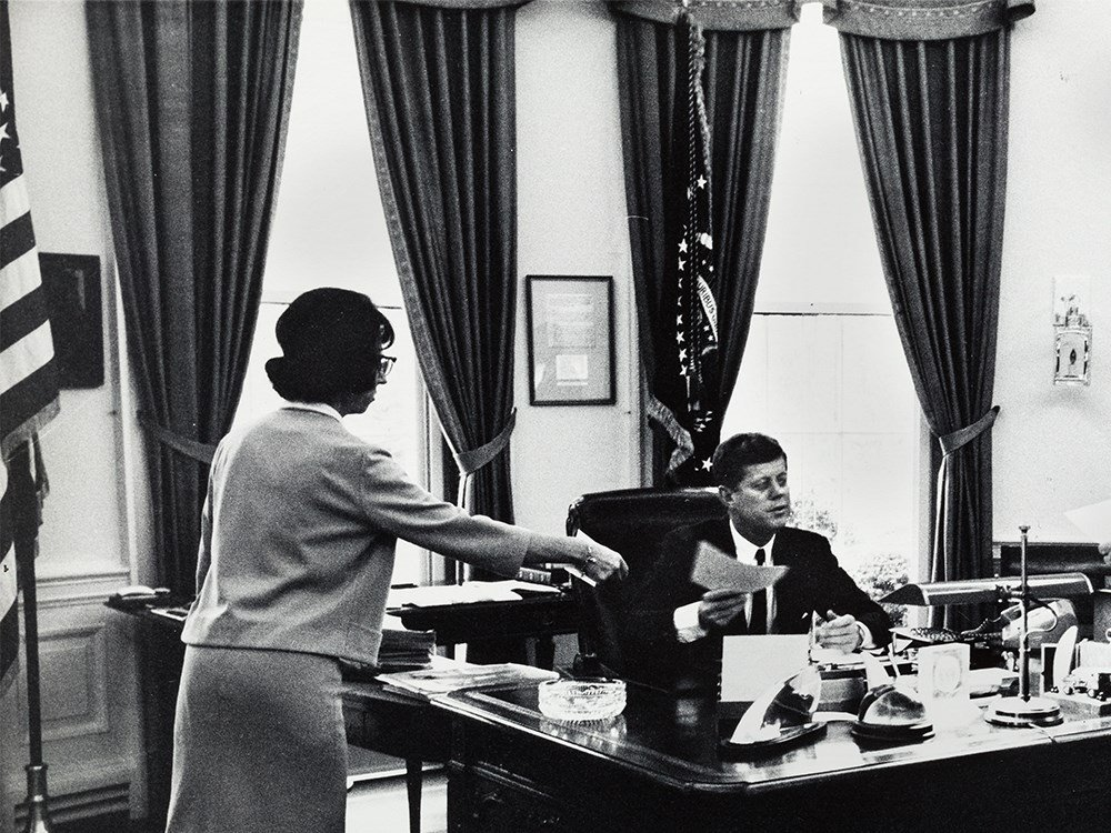 Arthur Rickerby, JFK With Staff In The Oval Office, - 5