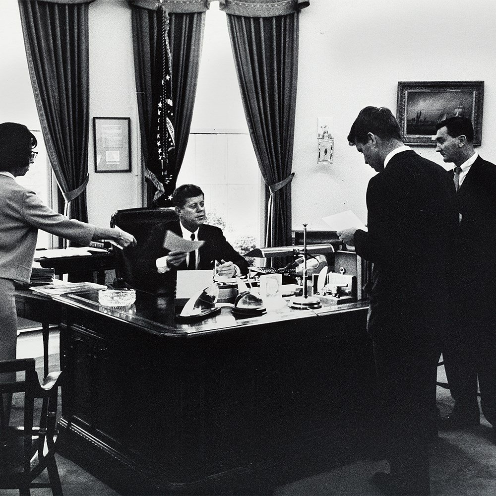 Arthur Rickerby, JFK With Staff In The Oval Office, - 8