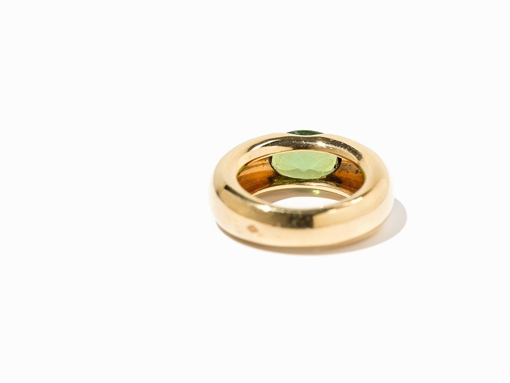 Cartier Solitaire Peridot Ring 'Ellipse', 18 K Gold, - 5