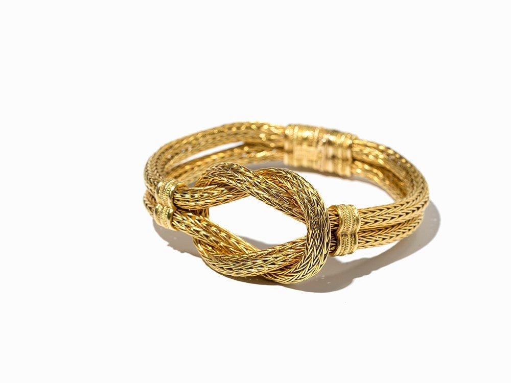 Ilias Lalaounis, Herakles Knot Bracelet, Woven Gold,