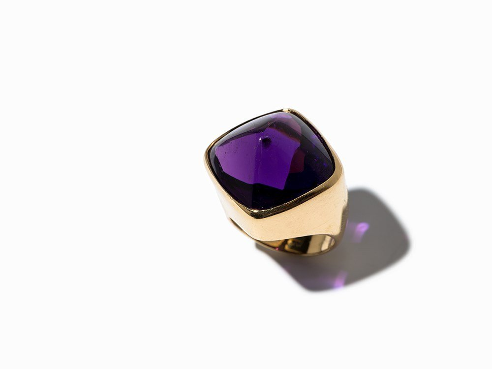 Paloma Picasso, Gold Ring with Violet Amethyst, Paris,