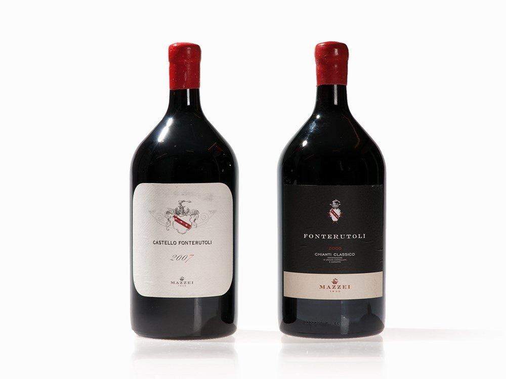 2 Magnum Bottles 2007/2009 Mazzei Fonterutoli, Tuscany