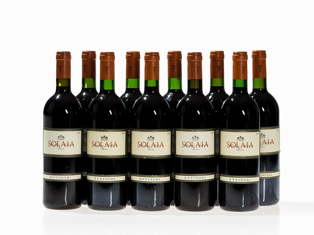 10 Bottles Antinori Solaia, 1994, 1995 and 1997