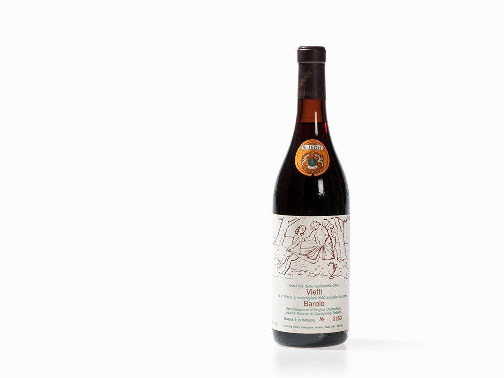 1 Bottle 1974 Vietti Barolo Rocche, Piedmont