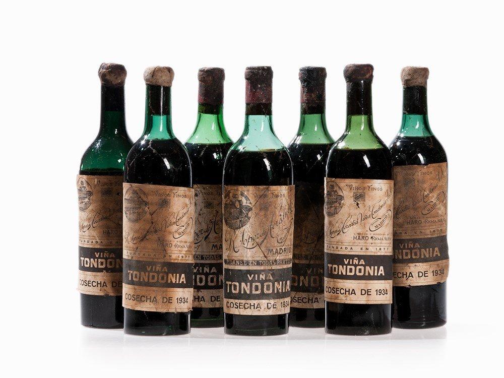 7 Bottles 1934 R. López de Heredia Viña Tondonia, Rioja