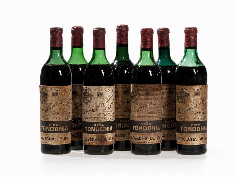 7 Bottles 1947 R. López de Heredia Viña Tondonia, Rioja