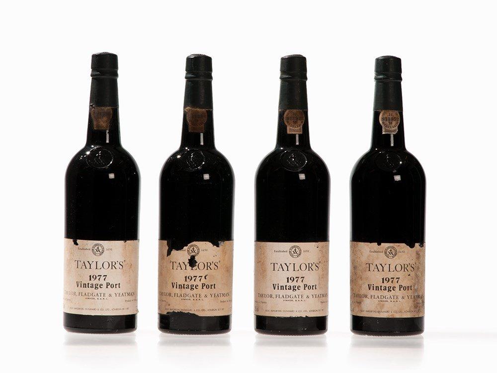 4 Bottles 1977 Taylor's Vintage Port