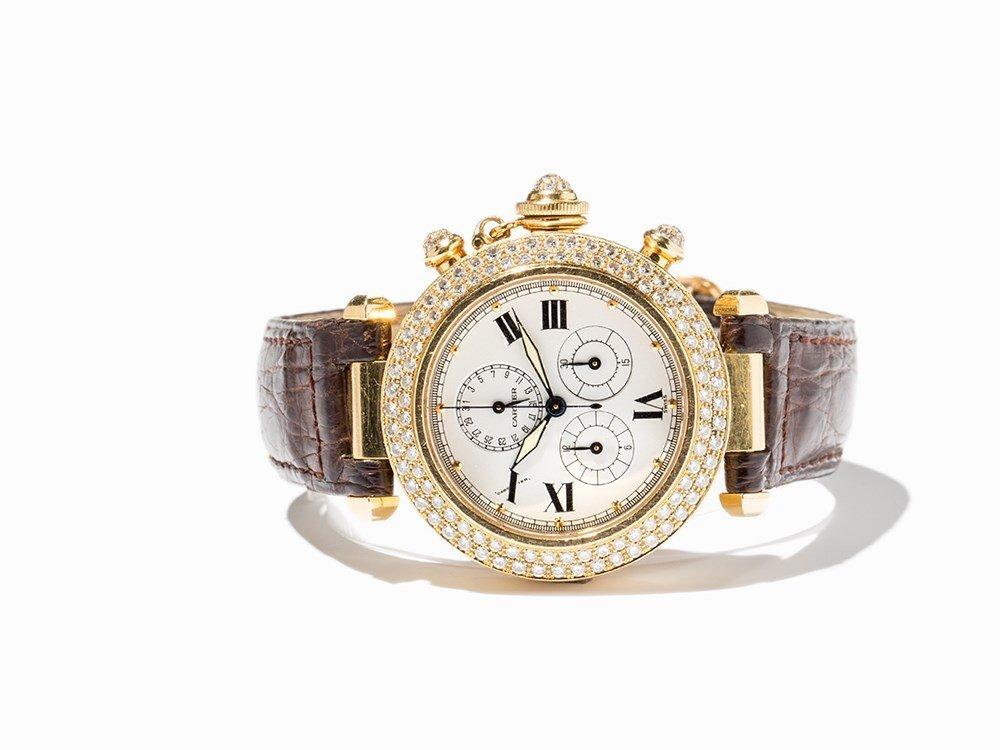 Cartier Pasha Diamond Chronograph, Ref. 1354,