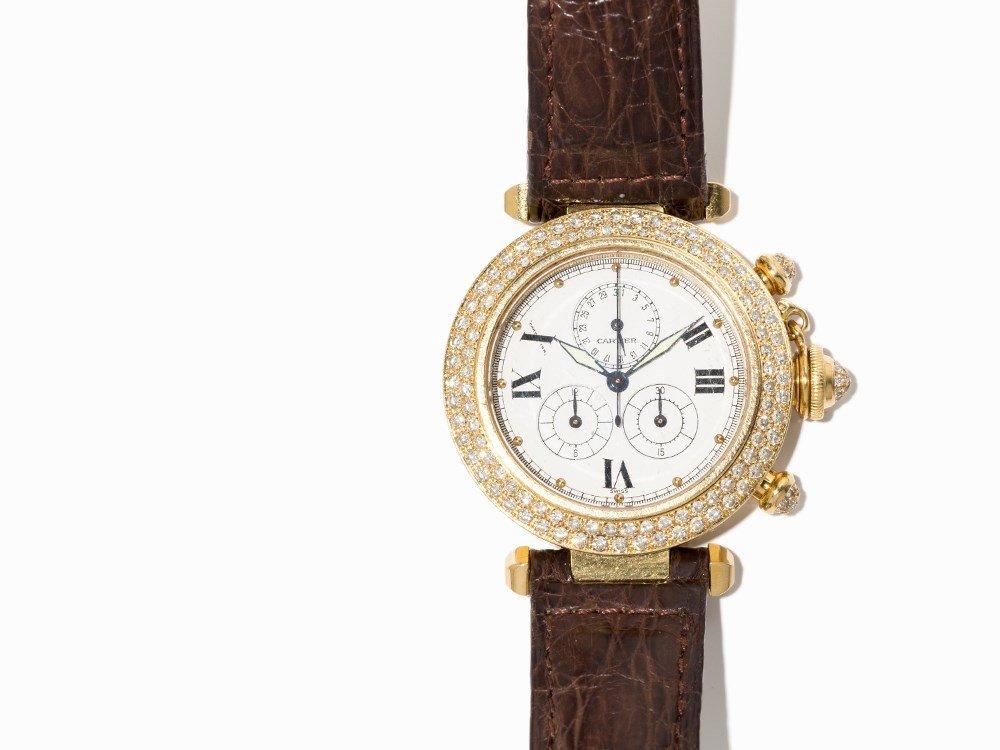 Cartier Pasha Diamond Chronograph, Ref. 1354, - 2