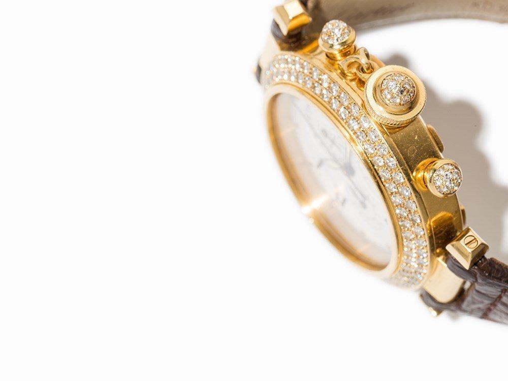 Cartier Pasha Diamond Chronograph, Ref. 1354, - 3