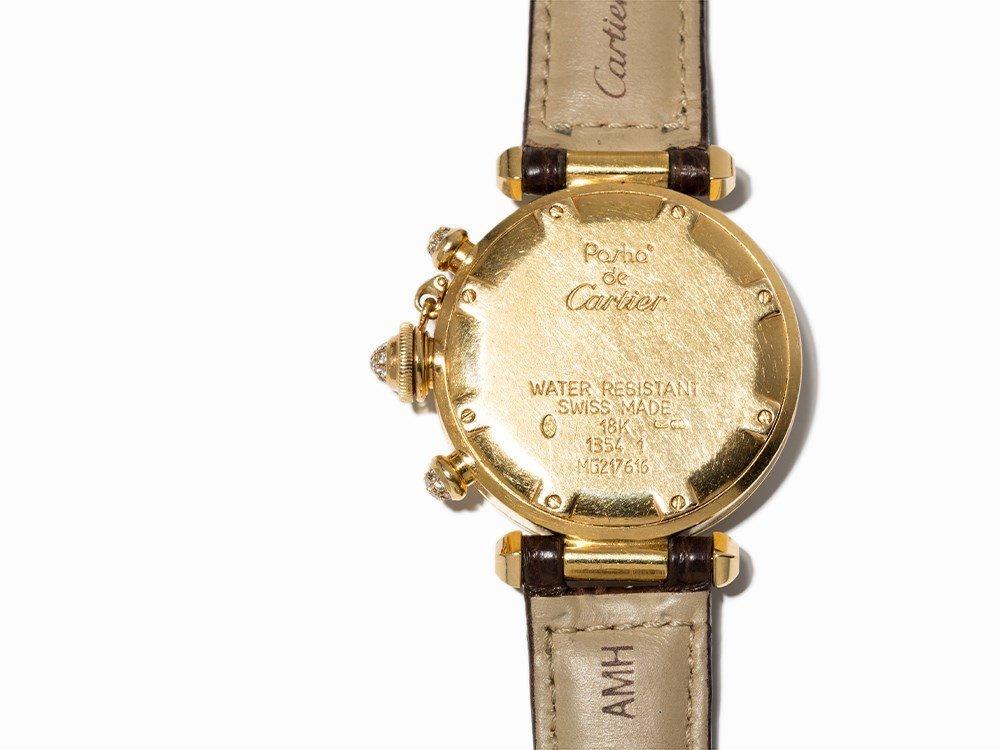 Cartier Pasha Diamond Chronograph, Ref. 1354, - 4