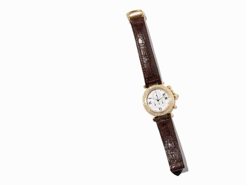 Cartier Pasha Diamond Chronograph, Ref. 1354, - 7