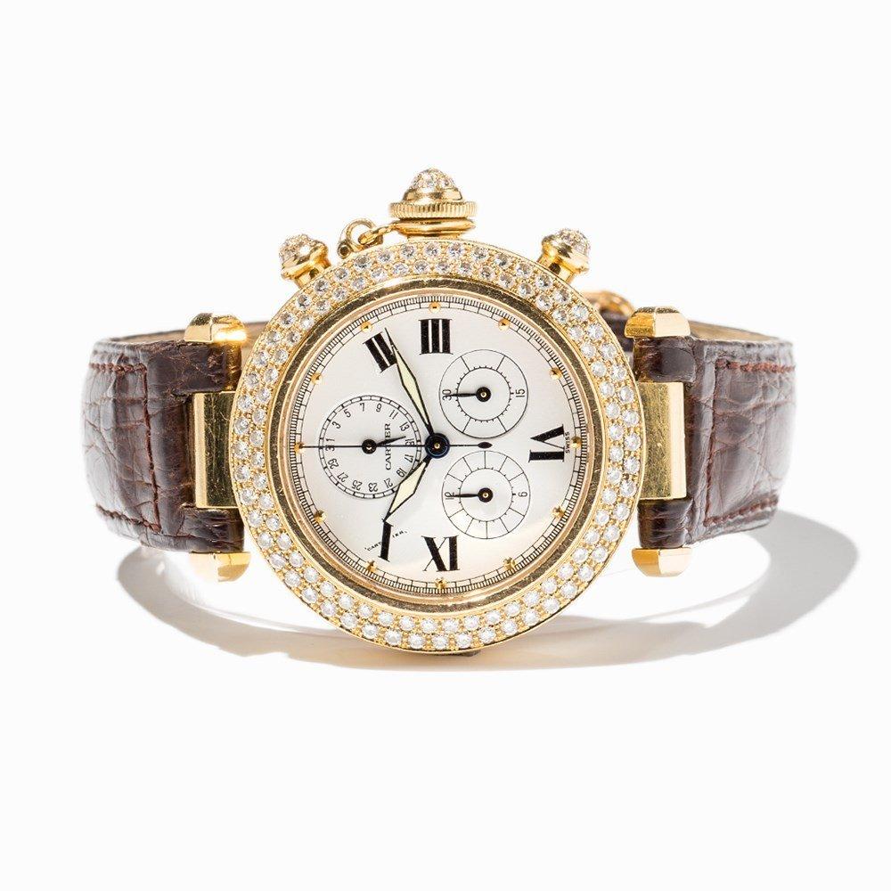 Cartier Pasha Diamond Chronograph, Ref. 1354, - 8