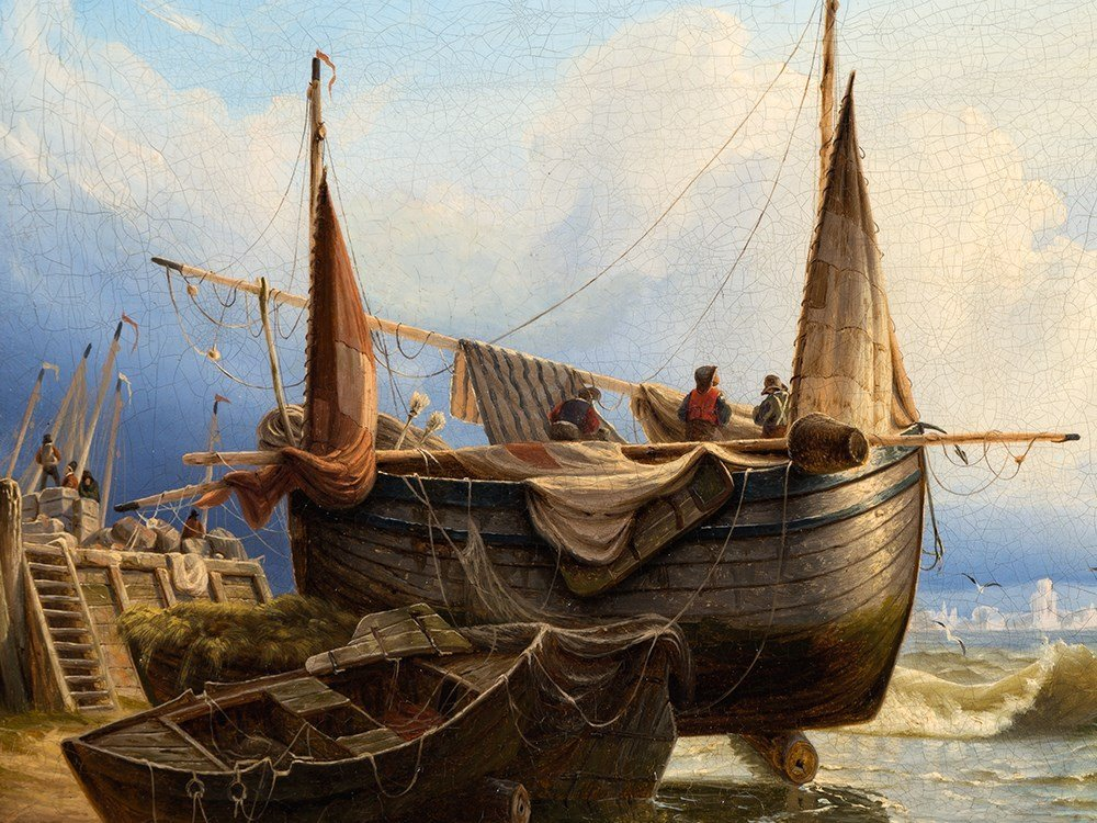 A. Wilhelm John (1813-c.1848), Fishing Boat on the