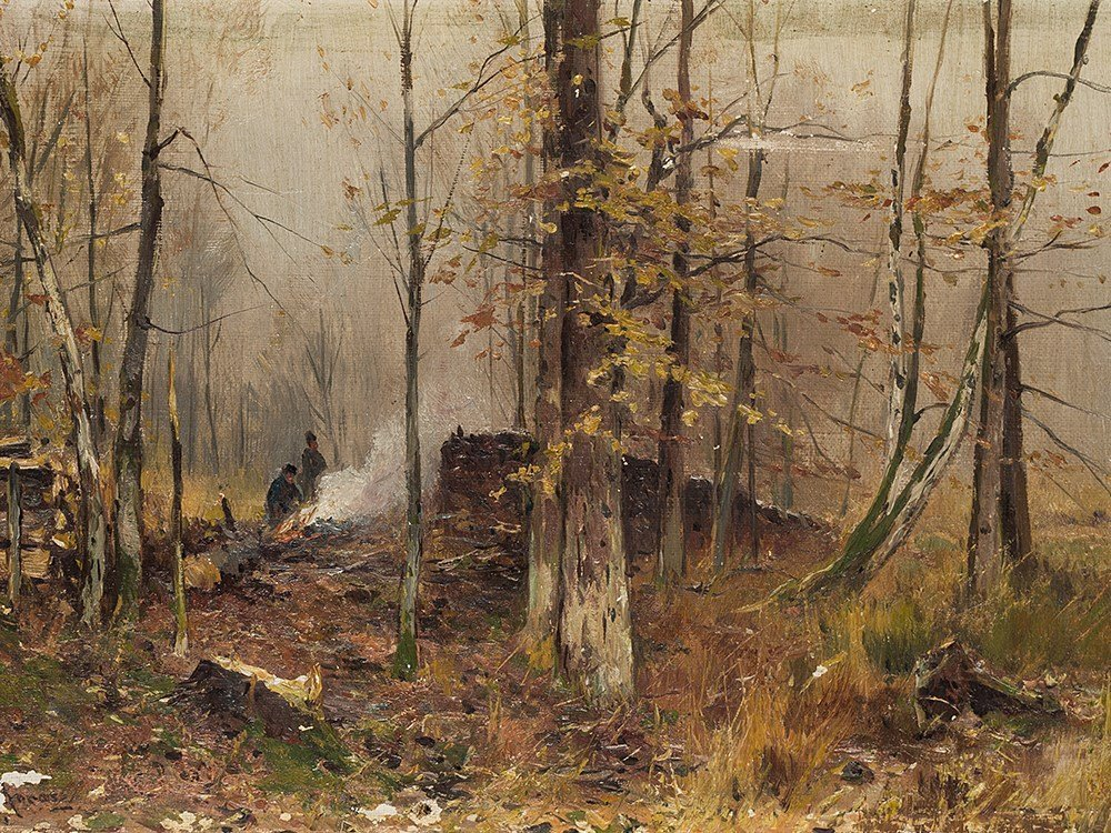 Walter Moras (1856-1925), Forest Near Tussein, c. 1900