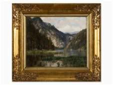 Theodor Alphons (1860-1897), Alpine Landscape, 1896