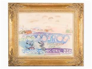 Raoul Dufy (1877-1953), Ponts sur la Tamise, c. 1928-