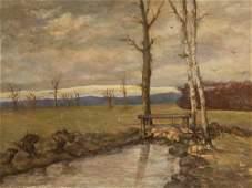 Pierre Puvis de Chavannes, Oil, Landscape, 2nd Half