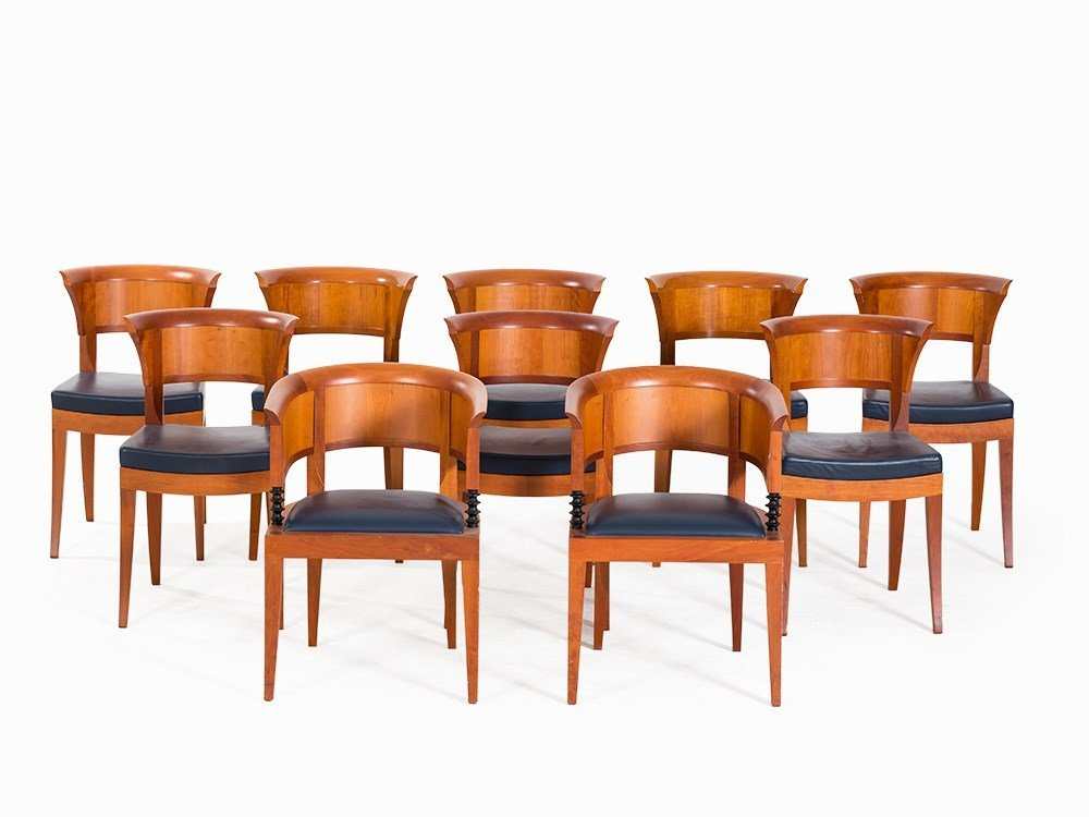 Léon Krier, Dining Table with 10 Chairs, Giorgetti, - 2