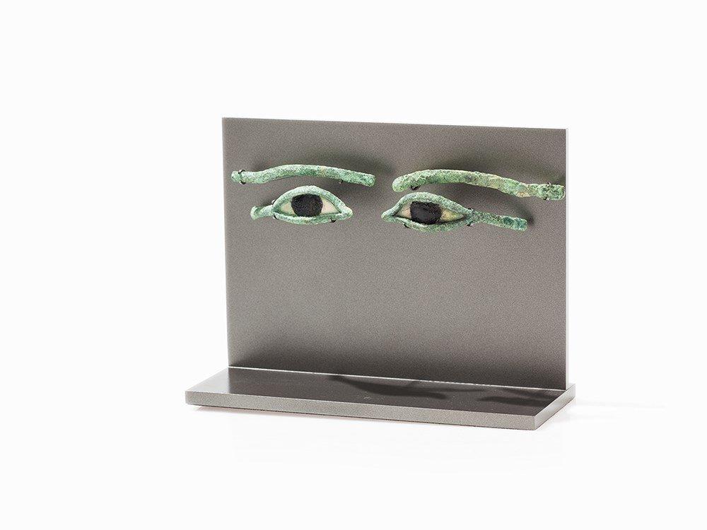 Pair of Egyptian Bronze Eyes, Egypt, Late Period,c.