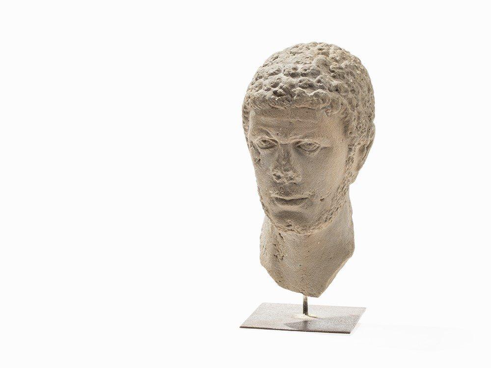 Head Bust of a Roman Emperor/Aristocrat, c. 200-300 AD