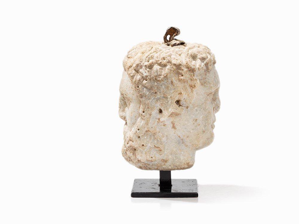 Roman Marble Janiform Head of a Man, Italy, 150 AD