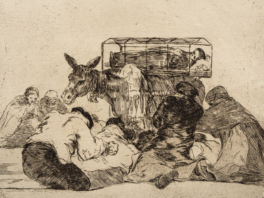 Francisco de Goya, Etching, 'Extraña devocion!',