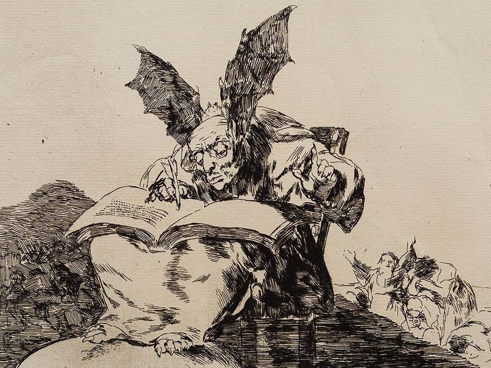 Francisco de Goya, Etching, 'Contra el bien general',