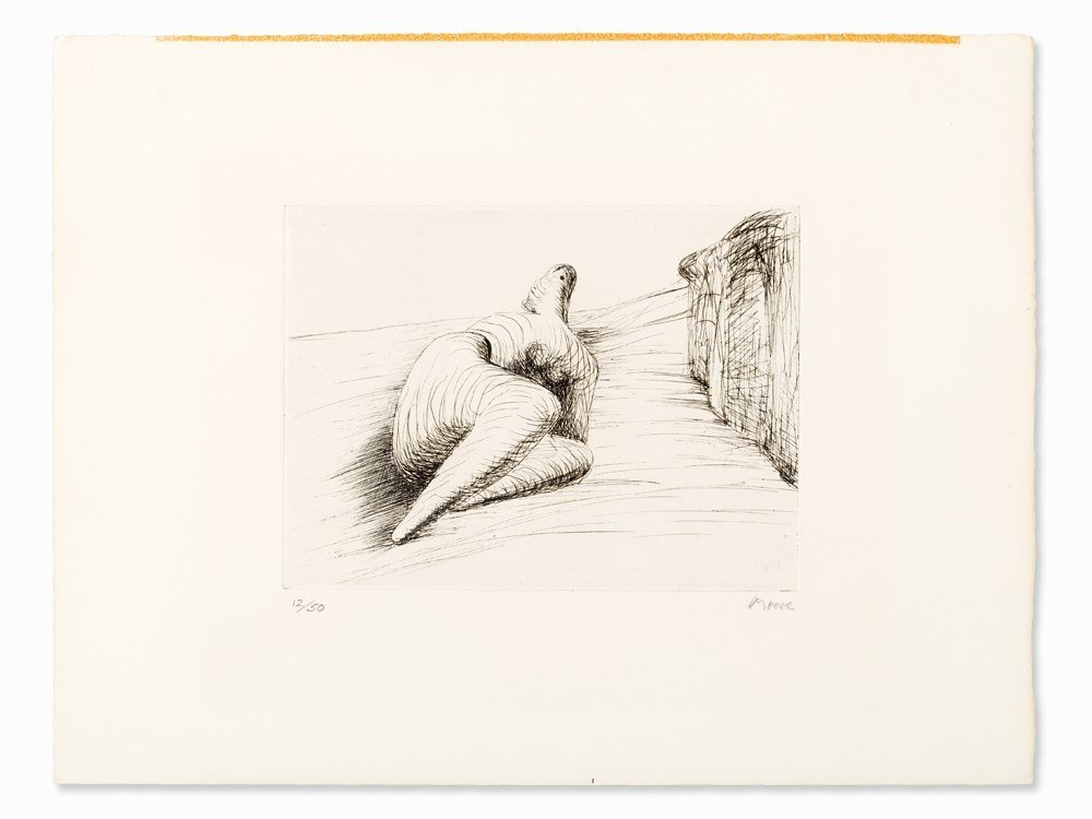 Henry Moore, 'Curved Reclining Figure in Landscape II',