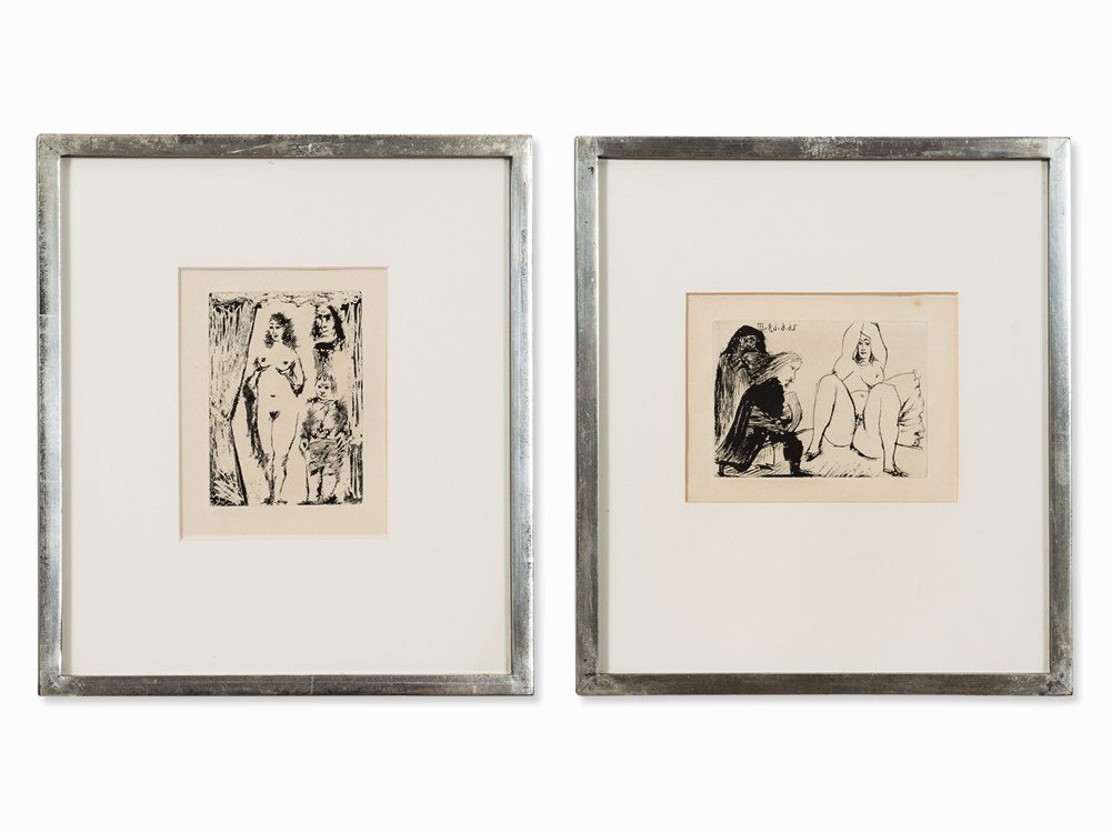 Pablo Picasso, 2 Aquatint Etchings, From 'La