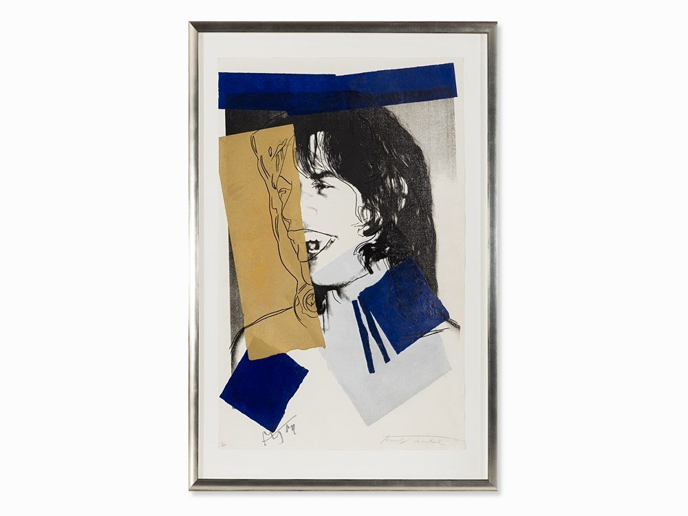 Andy Warhol, Serigraph in Colors, 'Mick Jagger', USA,