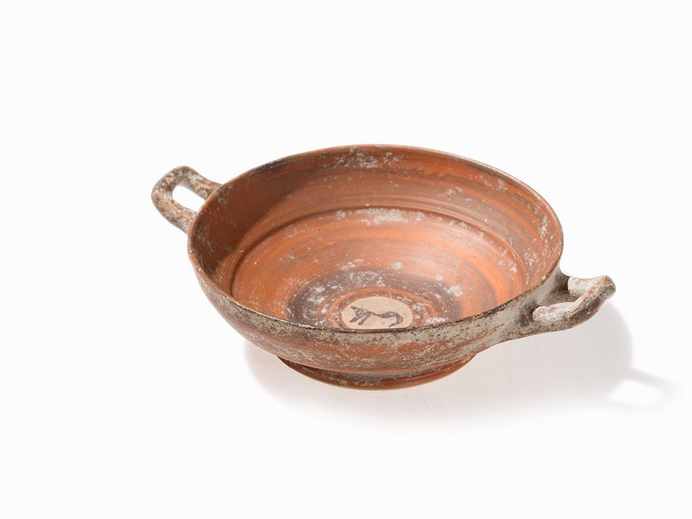 Handle Bowl, Italo-geometric, 5th/4th Century BC