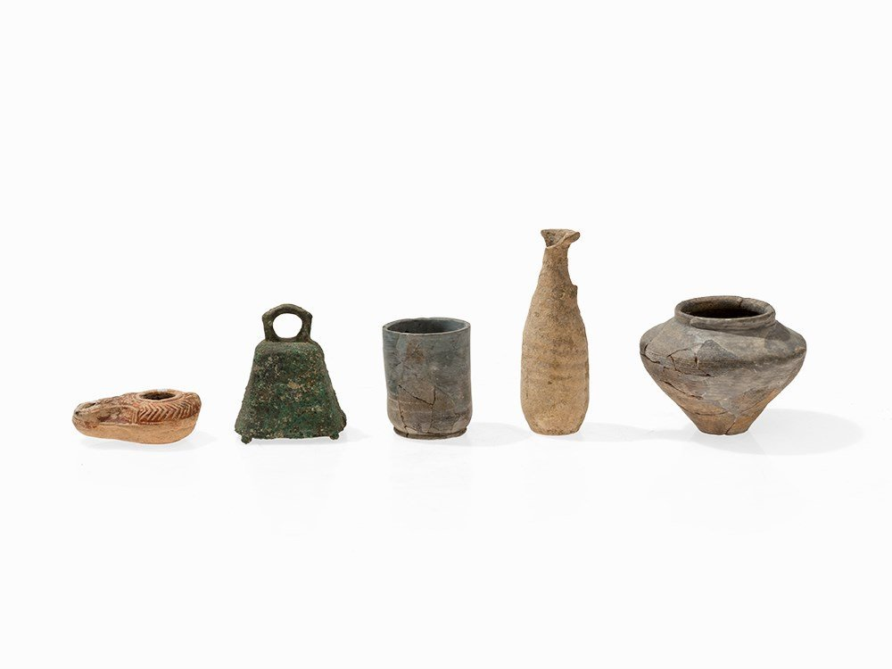 Mixed Lot Antique Vessels, Southern Europe