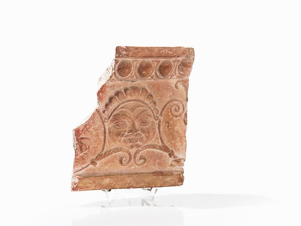Slab Fragment with Gorgon's Head, Etruscan, 5th/4th