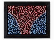 L.A. II (Angel Ortiz), Acrylic on Canvas, 'Away', USA,